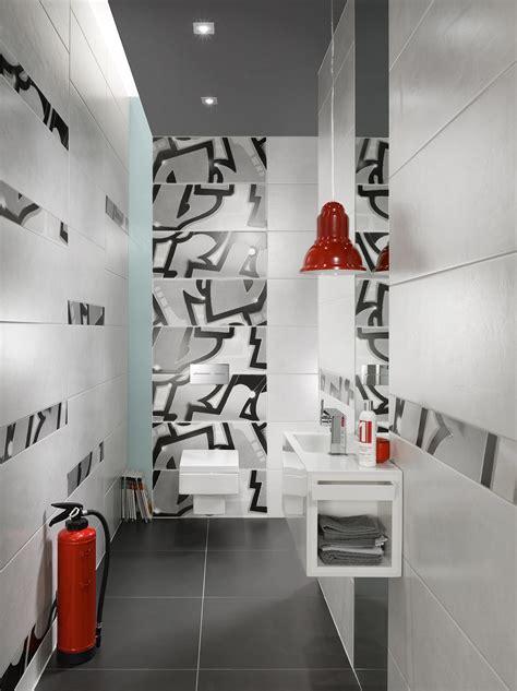 graffiti petrol orange ceramic tiles  steulerdesign