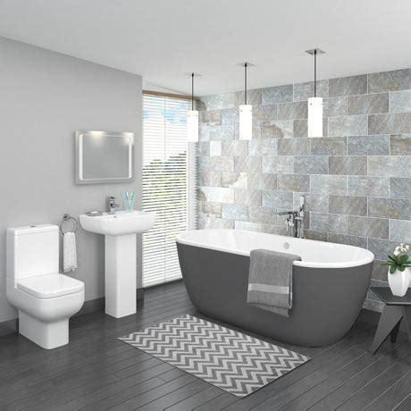 Badezimmer Modern Grau by Pro 600 Grey Modern Free Standing Bath Suite