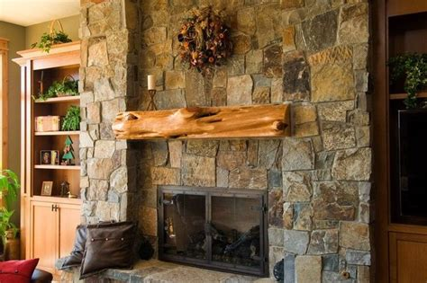 rustic stone fireplaces large stone fireplace