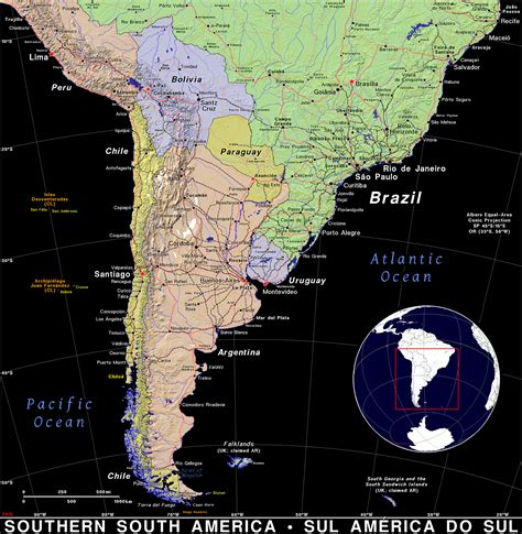Southern South America · Public domain maps by PAT, the ...