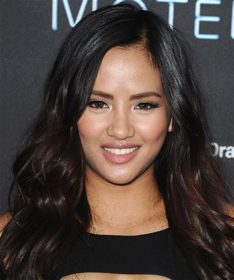 Emmalyn Estrada Long Wavy Casual Hairstyle   Dark Brunette