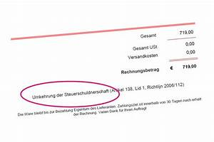 Steuerschuldnerschaft Des Leistungsempfängers Rechnung : rechnung mit umkehrung der steuerschuldnerschaft ~ Themetempest.com Abrechnung