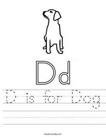 Dog Letter D Preschool Worksheet