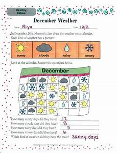 Charts Tables And Graphs Scholastic December Weather Reading Tables Printable Skills Sheets