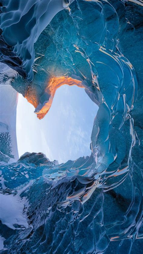 skaftafell ice cave iceland wallpapers hd wallpapers