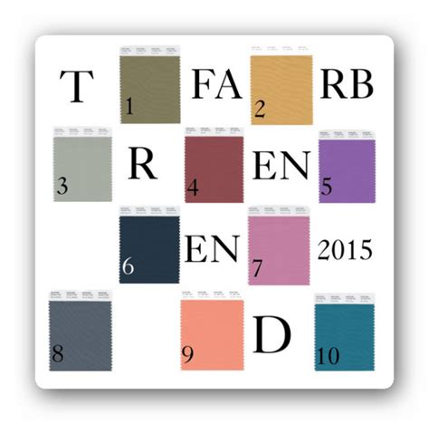 Trendfarben Wohnen 2015 by Die Trendfarben Im Herbst Winter 2015 2016 Lelife