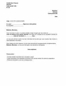 Lettre Declaration Sinistre : exemple gratuit de lettre envoi un constat amiable accident route assureur ~ Gottalentnigeria.com Avis de Voitures