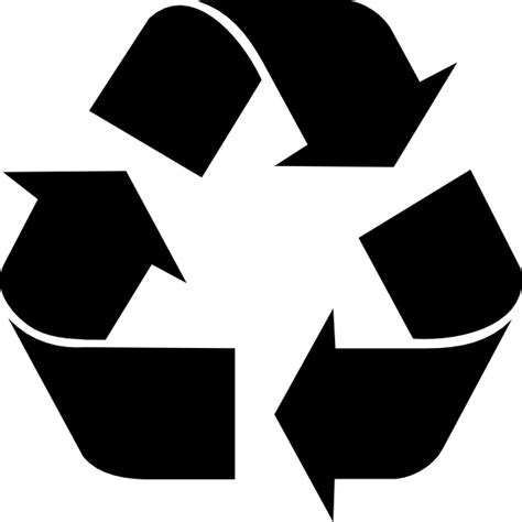 Recycling symbol clip art Free vector in Open office drawing svg ( .svg ) vector illustration
