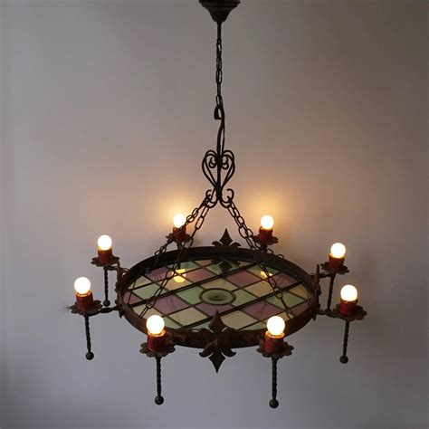 rustic wrought iron belgium chandelier for sale at 1stdibs