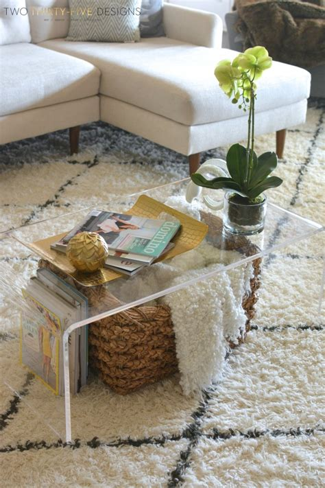 Lucite Coffee Table Styling  Two Thirtyfive Designs