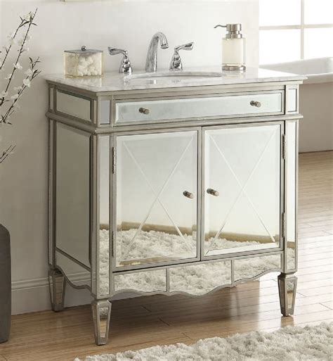 Mirrored Vanities For Bathroom by 32 Inch Bathroom Vanity Mirrored Deco Design With