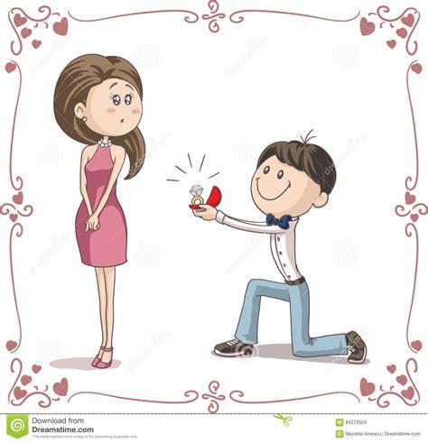 boyfriend  girlfriend  engaged cartoon