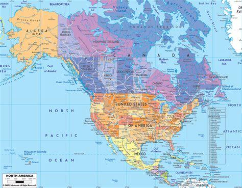 north america map region city map  world region city