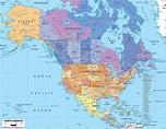 Political Map of North America - Ezilon Maps