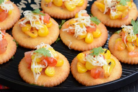 easy vegetarian canapes biscuit canapes my india