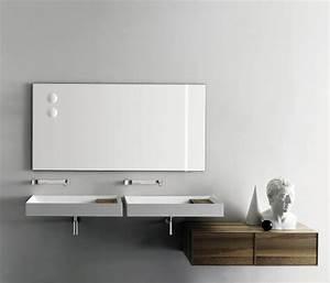 Meuble Salle De Bain Gain De Place : meuble salle de bain bois tout savoir sur les types et ~ Dailycaller-alerts.com Idées de Décoration