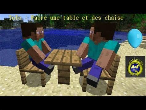 comment faire des dessus de chaise tuto faire des chaise et une table minecraft
