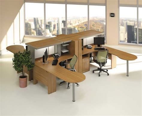 u shaped home office desk home office modular home office furniture idea with brown