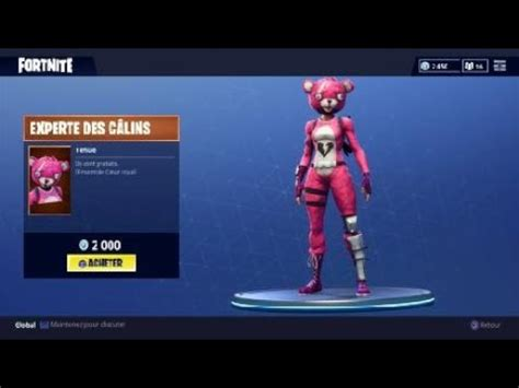 nouveau skin experte des calins fortnite youtube