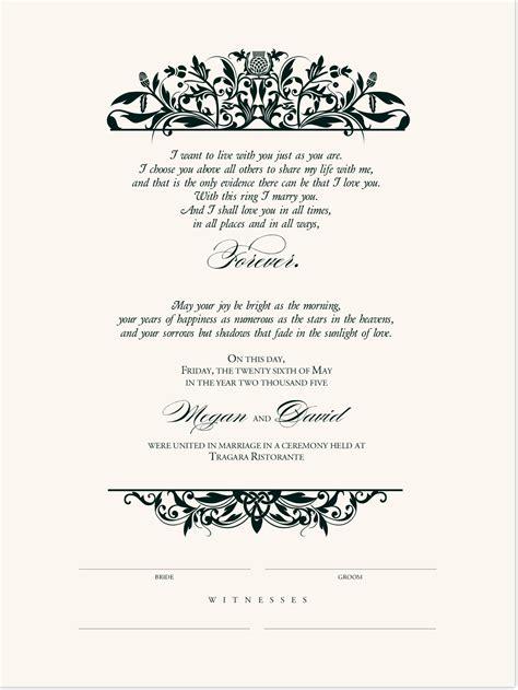 celtic wedding marriage certificates  irish wedding