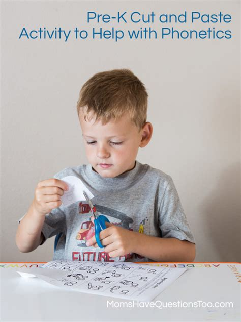 beginning letters cut and paste preschool activity 812 | Pre K Cut and Paste Activity Moms Have Questions Too