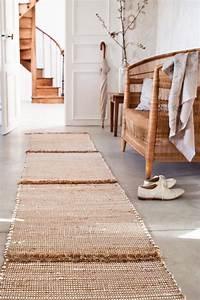 des tapis cousus entre eux marie claire With tapis pour couloir d entrée