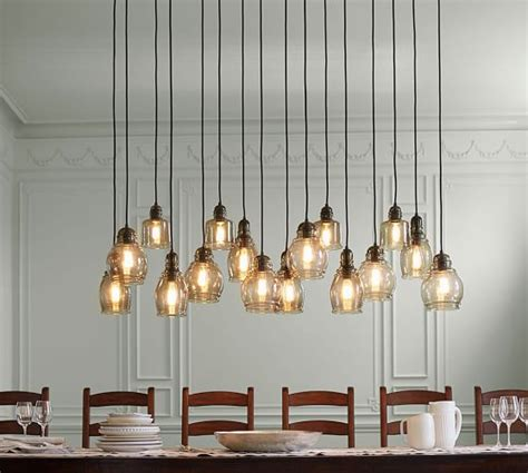 Paxton Glass 16 Light Pendant Pottery Barn