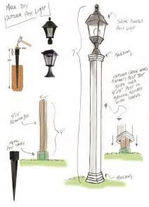 Installing Lamp Post Concrete Base Picture