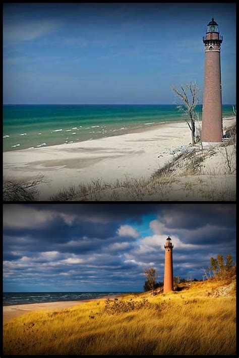 god leads   follow michigan lighthouses