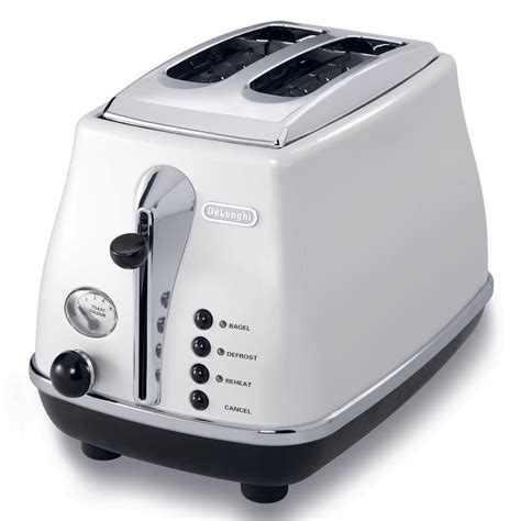 White Toaster by Delonghi Icona 2 Slice White Toaster Cto2003w The Home Depot