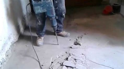 How to Use a Hammerdrill through Concrete Floor   YouTube