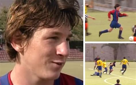 barcelona release unseen lionel messi footage  rise