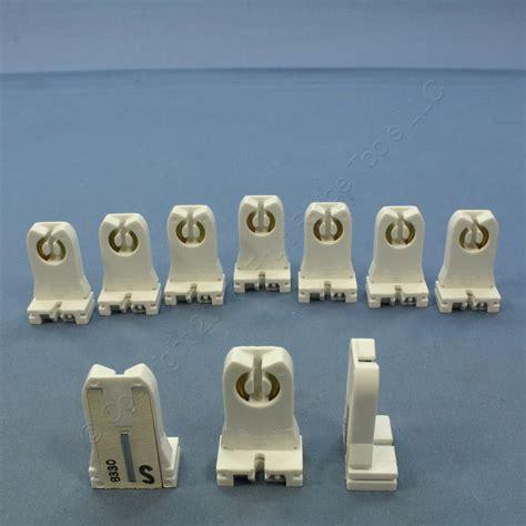 10 new leviton fluorescent lholder sockets t8 t12