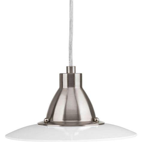 brushed nickel kitchen lighting progress lighting avant collection 1 light brushed nickel 4944