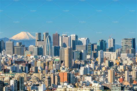 tokyo skyline architecture  creative market