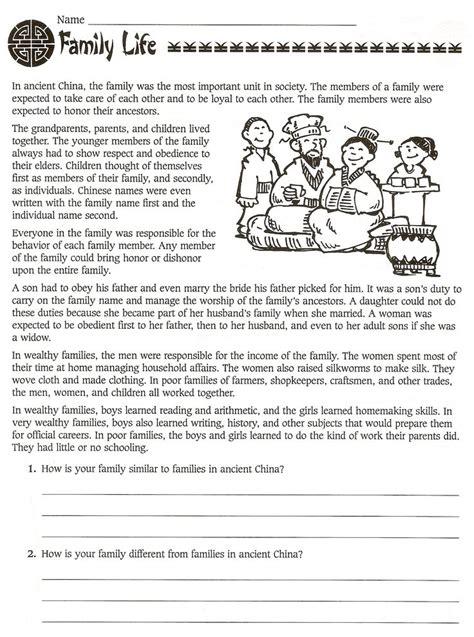 grade social studies ancient china worksheets