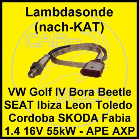 Lambdasonde Nach Vw Golf Iv 1 4 16v 55kw Ape Axp Diagnosesonde Golf4 Ebay
