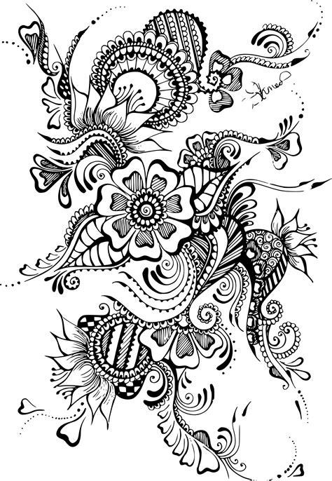 Coloriage Antistress Tatouage à Imprimer Sur Coloriages Info