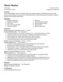 unforgettable quality assurance resume exles to stand