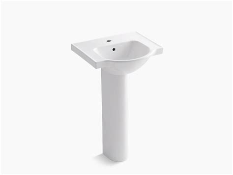 Veer Pedestal Sink With Single Faucet Hole