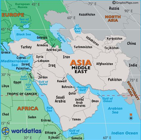 large map  middle east easy  read  printable
