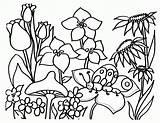 Coloring Garden Drawing Children Popular sketch template