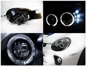 Dodge Neon SRT 4 2003 2005 Black Dual Halo Projector