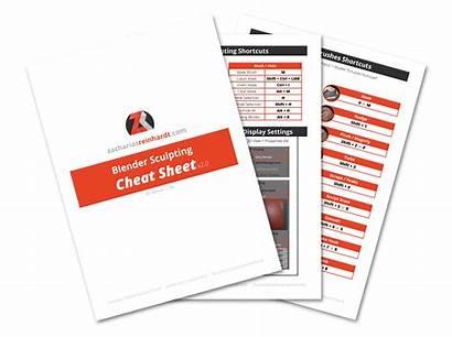 Blender Sculpting Sheet Cheat Mastering Tutorial 3d