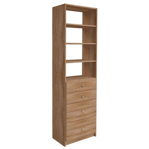 Simplyneu 84 In H X 24 In W Nutmeg Drawer And Shelving