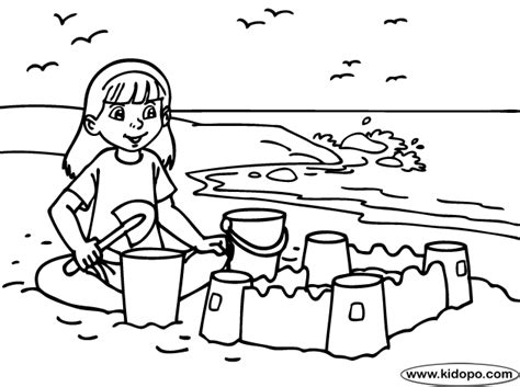 Coloring With Sand by Sand Build Coloring Page