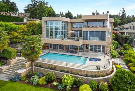 $88 Million Contemporary Lakefront Mansion In Mercer