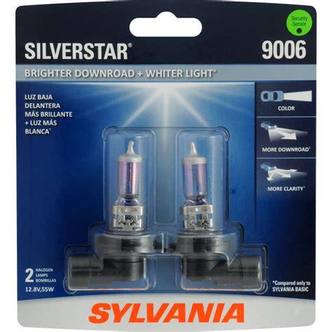 9006 sylvania silverstar headlight bulb halogen automotive light brighter lights performance