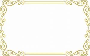 Gold Frame Border Png Gold Border Clipart Frame Png