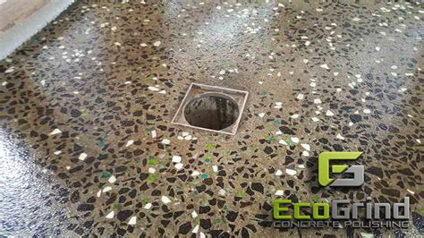 Fish Creek Polished Concrete Shower Base-eco Grind